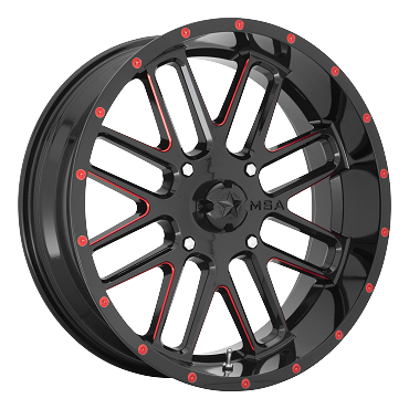 MSA M35 BANDIT Black and Red