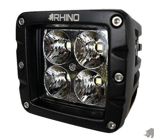 Rhino Lights 3 INCH 40W OSRAM LED POD WORK LIGHT - FLOOD, SPOT OR DIFFUSED